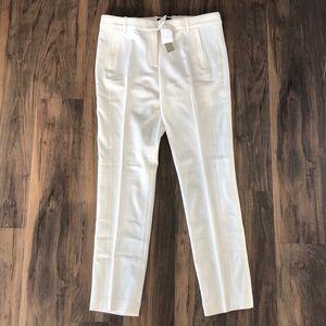 NWT J. Crew Ivory Maddie Pant Trouser Stretch Wool